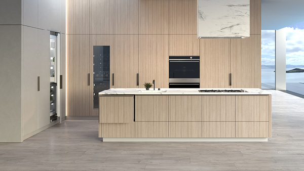 Contemporary Style Built-in Oven.